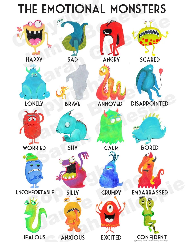 List Of Emotions And Feelings Printable