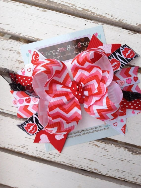 Valentine Bow So Stinkin Cute Over The Top Bow To