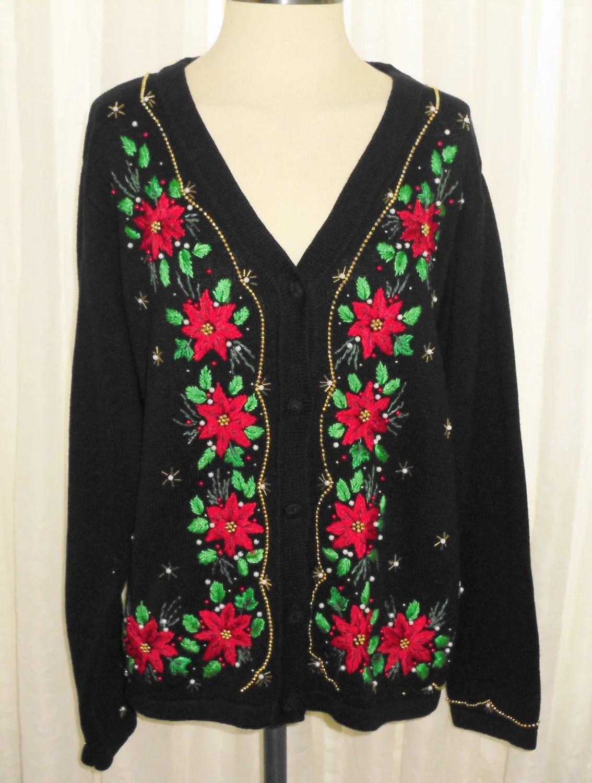 Beautiful Ugly Christmas Sweater BP Design Large