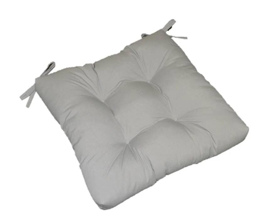 Indoor / Outdoor Solid Gray / Grey Universal Tufted Cushion