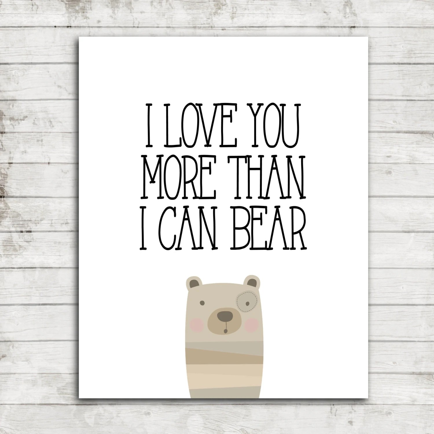 I Love You More Than I Can Bear Nursery Children S