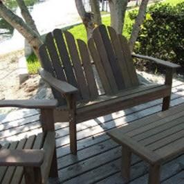 Ipe Adirondack Love Seat