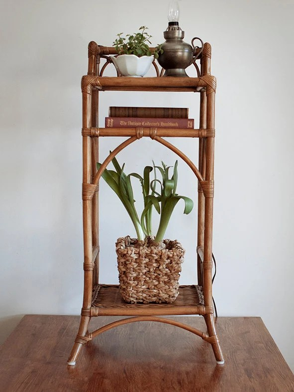 Vintage Rattan Plant Stand Rattan Furniture Wicker