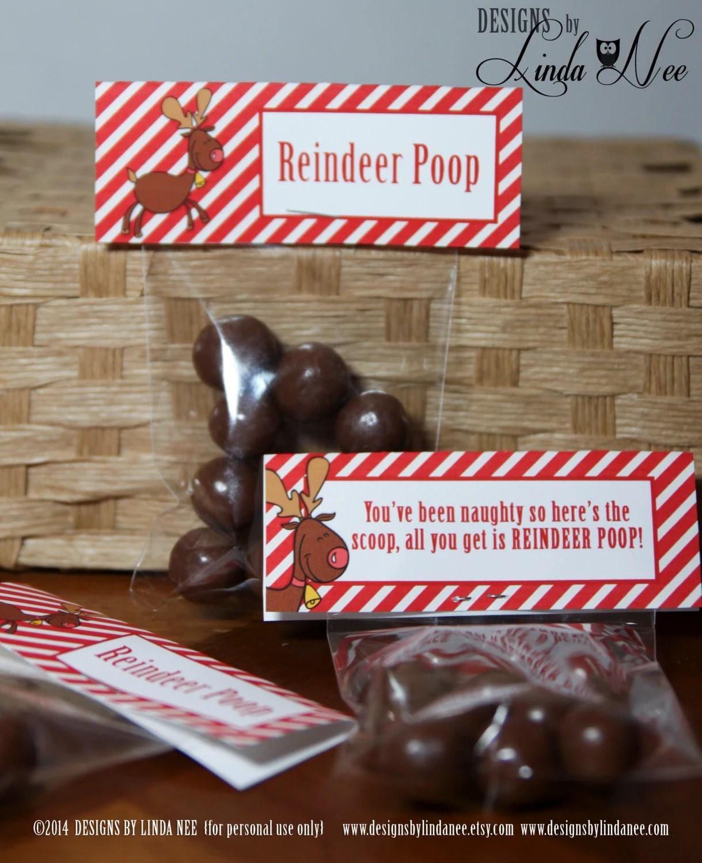 Reindeer Poop Brights Treat Bag Topper 4 Printable