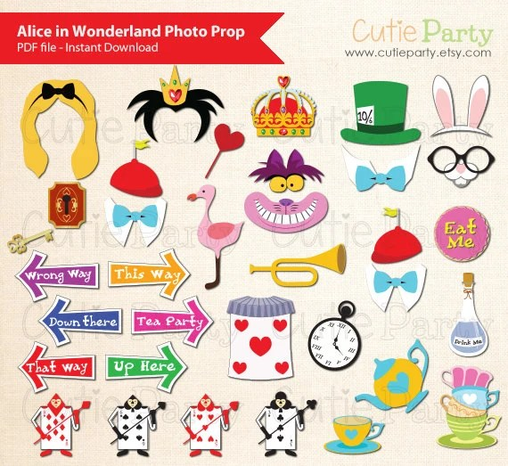 Alice Printables Wonderland Booth Photo