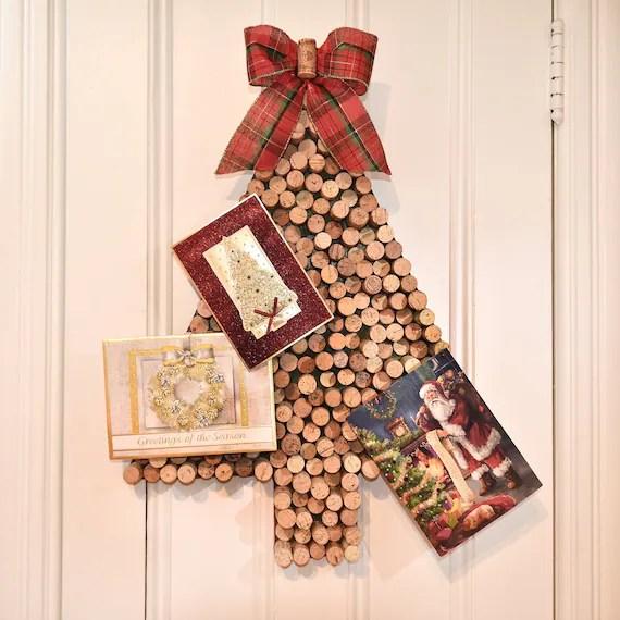 Christmas Card Holder Wine Cork Christmas Tree Card Holder