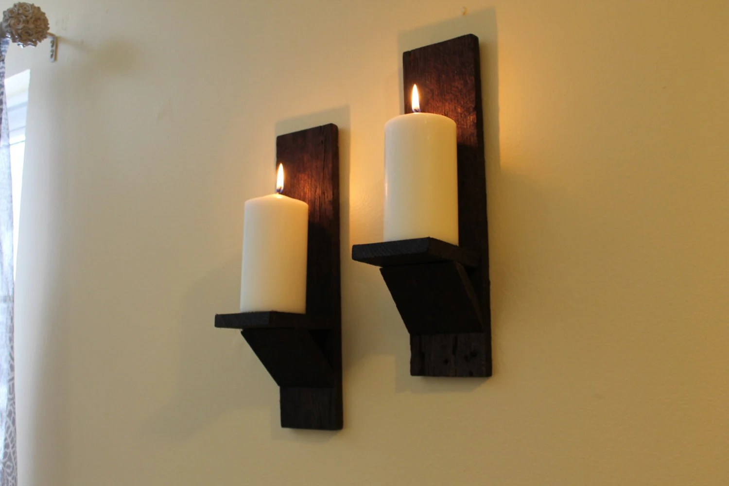 Pallet Wood Wall Sconces Rustic Wall Sconces Re-purposed on Wood Wall Sconces id=31296