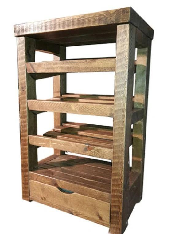 Tall Wooden Shoe Rack