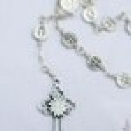 St Benedict Open weave Orthodox Jubilee Chaplet - Exorcism Gothic Cross Silver