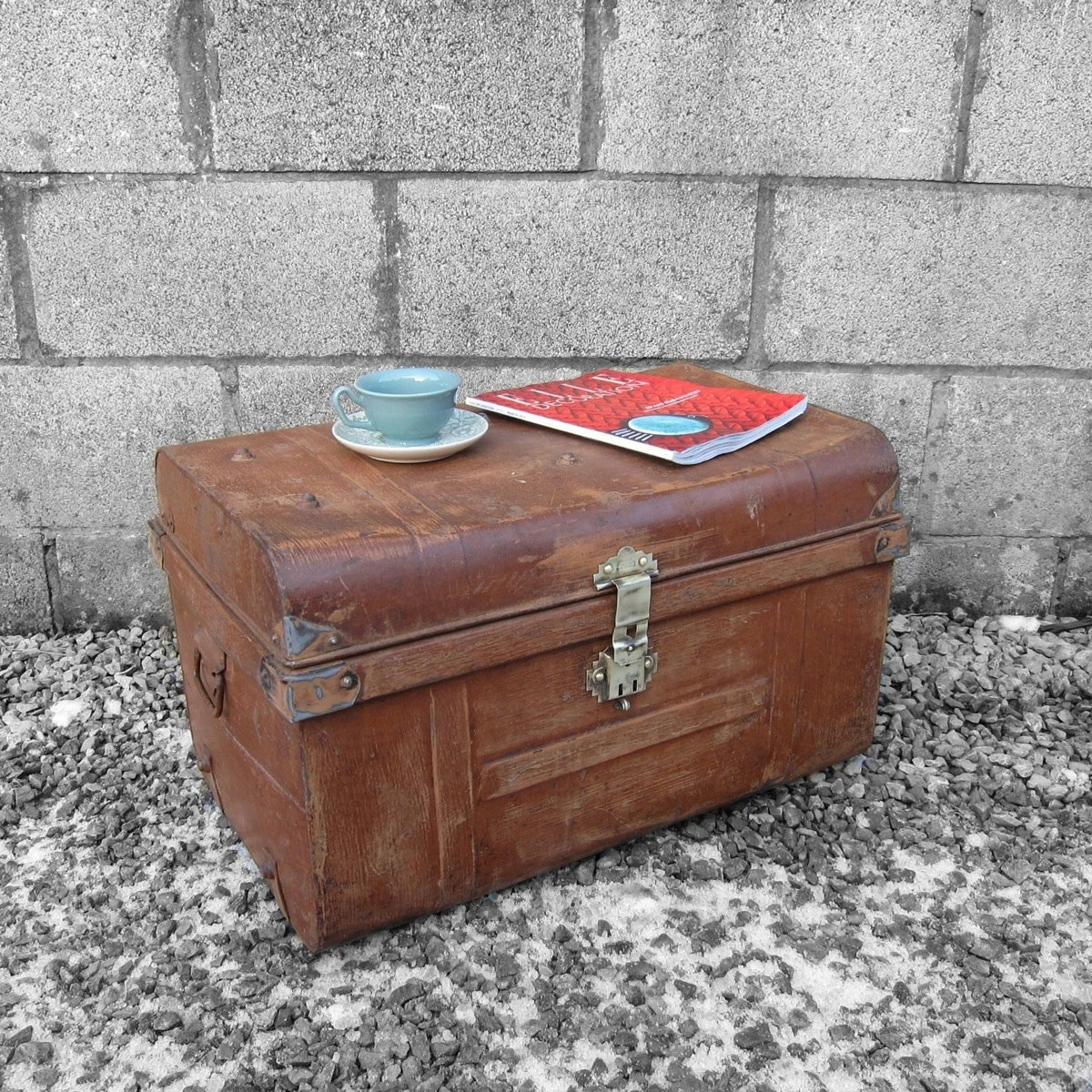 ... Metal Trunk – Perfect Coffee Table Storage Box Chest  Haute Juice