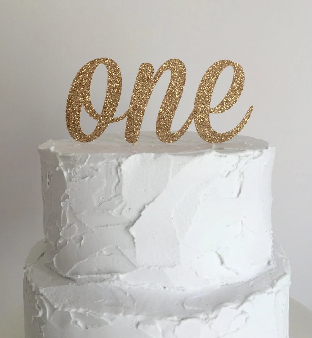 Rose Gold Glitter First Birthday Cake Topper By Mikaspartyshop