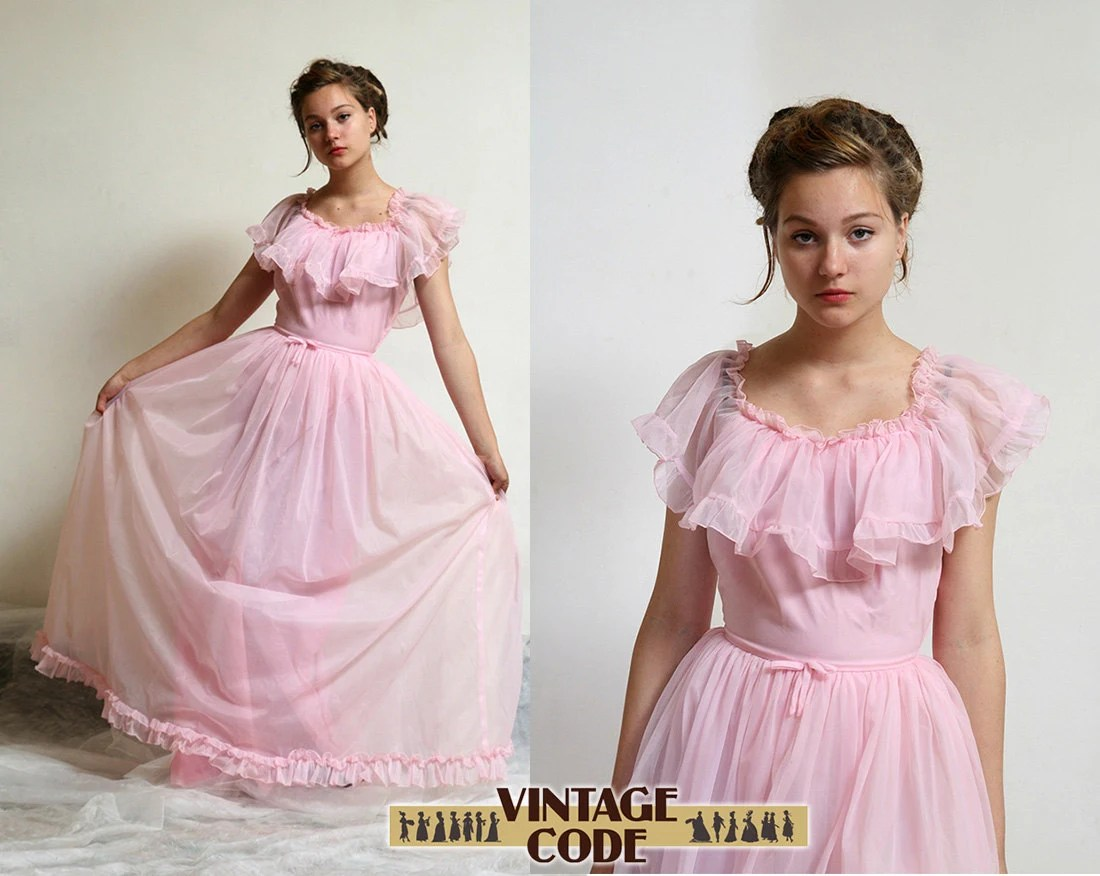 Pink Southern Belle Dress / Pink Wedding / Prom Dress Ball