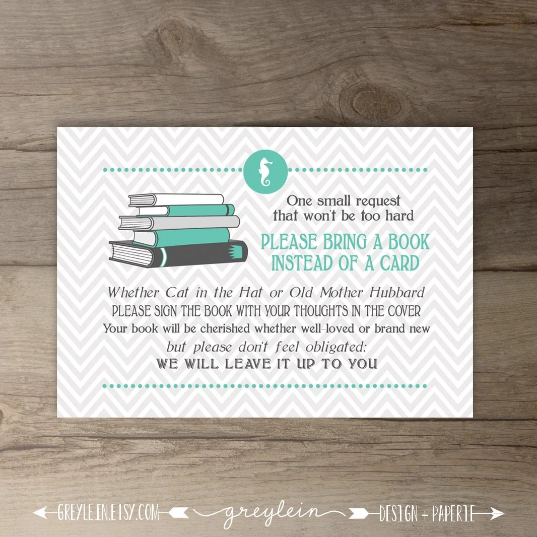 Baby Shower Invitations Bring Book