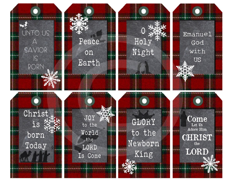 Christmas Printable T Tags Religious Christian Digital