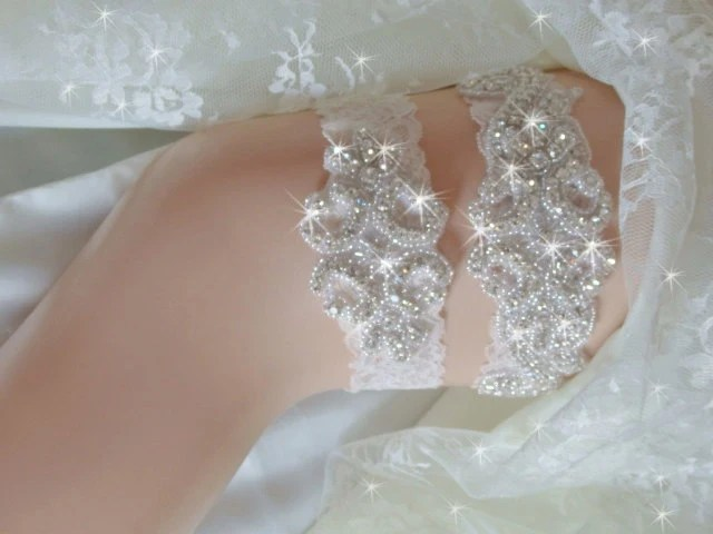 Wedding Garter Tradition Rhinestone Wedding By Bridalambrosia