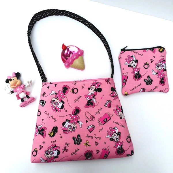 Pink Minnie Mouse Toddler Purse Set/Girls Purse and Coin