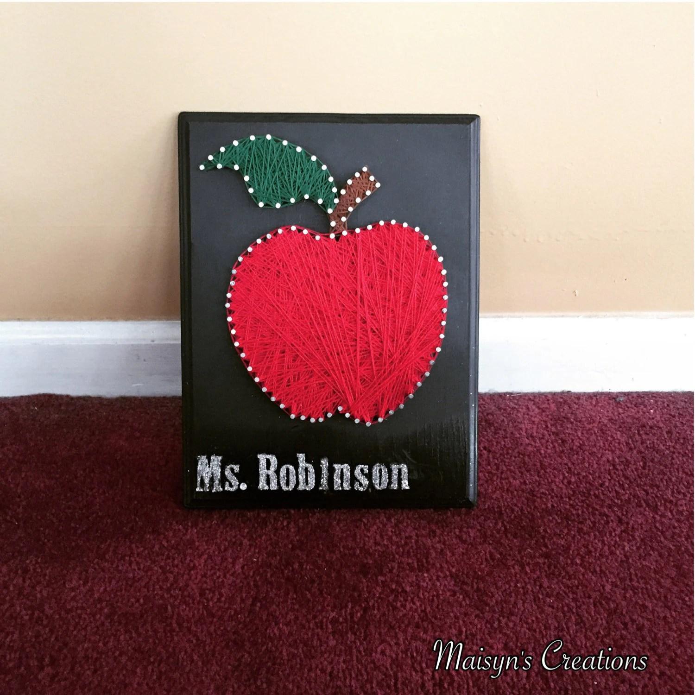 Teacher S Apple String Art