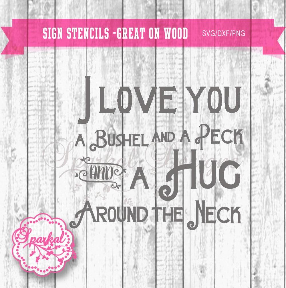 Download Sparkal Digital Design: I love you a bushel and a peck SVG ...