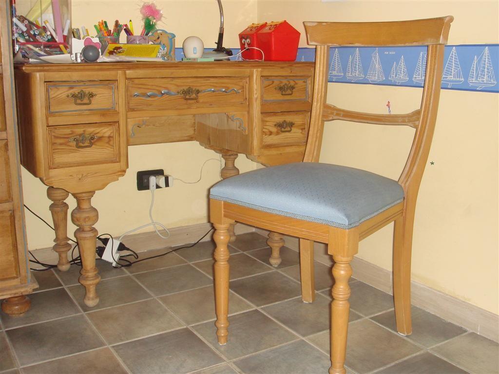 Scrivania in legno vintage con sedia  Haute Juice