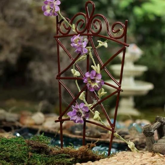 fairy garden trellises Fairy Garden Miniature Wire Garden Trellis Dollhouse