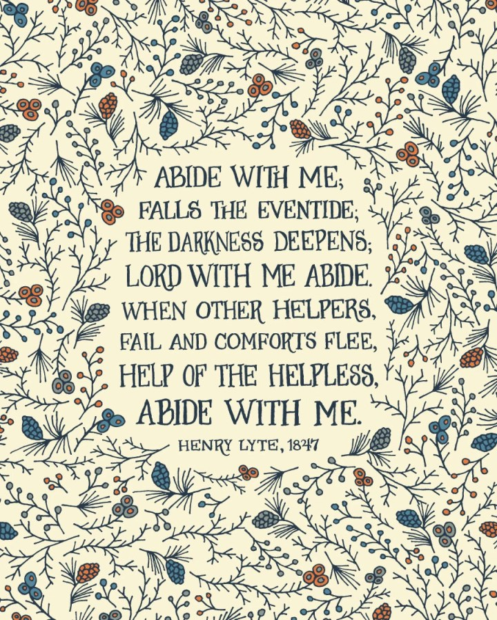 Abide with me; falls the ...