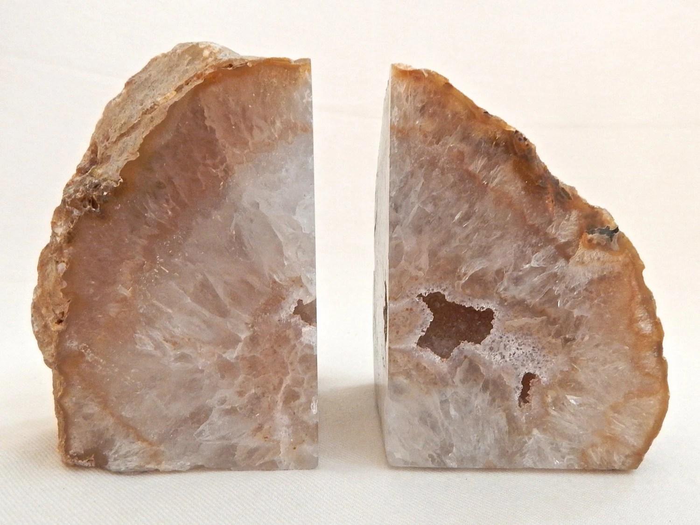 Serre Livres Agate Cristal De Quartz Gode Naturelle Livre Se