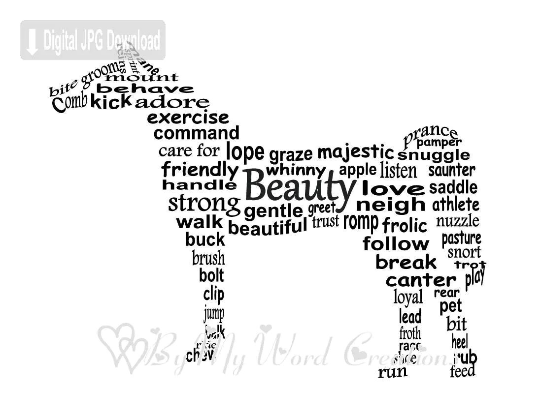 Horse Words Pictures To Pin