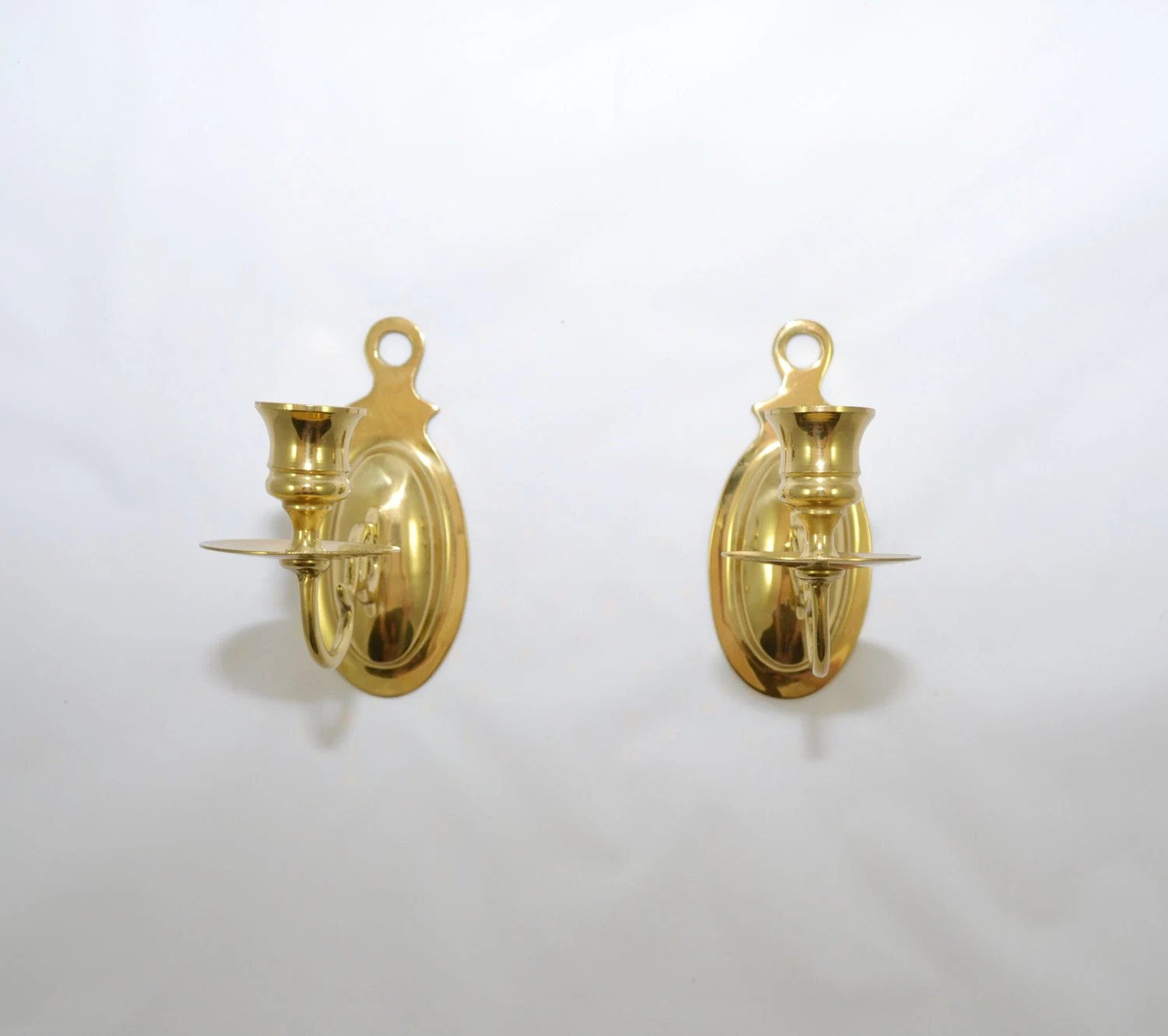 Vintage Wall Sconce Candle Holder Brass Wall by JudysJunktion on Wall Sconces Candle Holders id=11459