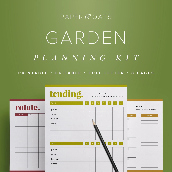 Garden Planner Garden Calendar Garden Planning Kit Planting on Patio Planner id=32490