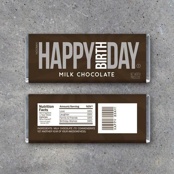 Birthday Candy Bar Sayings Card