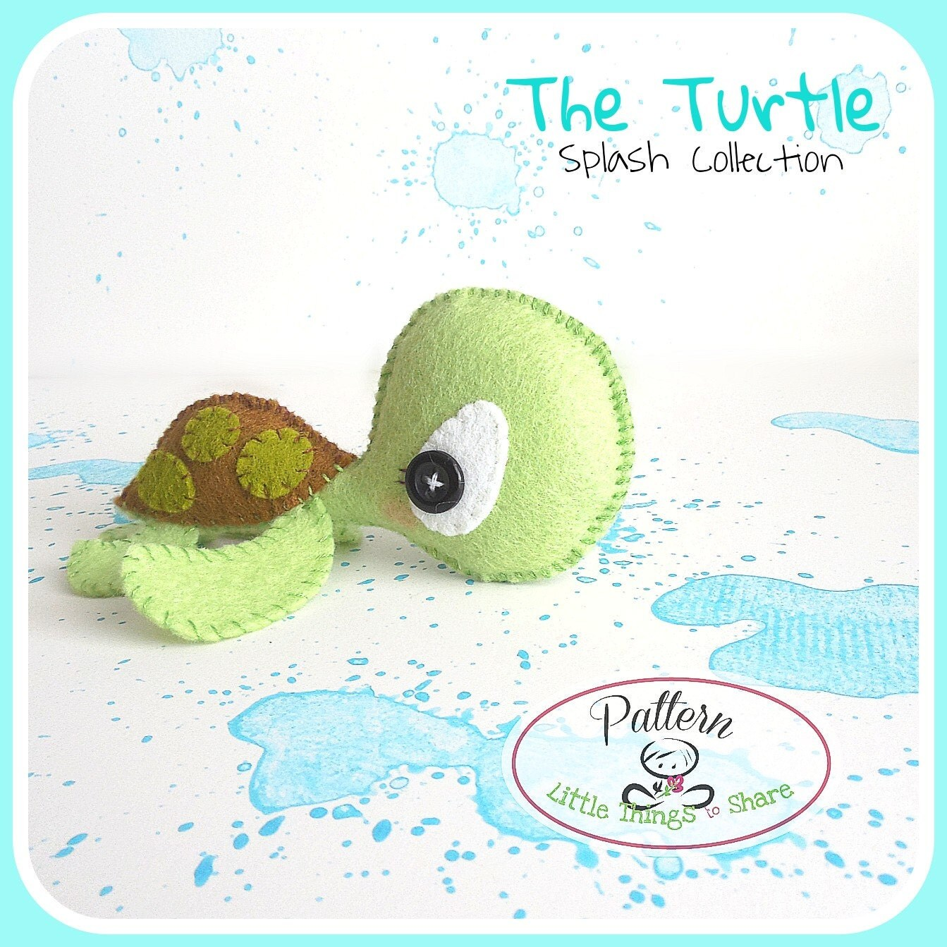 The Turtle Pattern Sea Animals Toy Diy Nursery Decor Instant Download Baby S Mobile Toy Cute