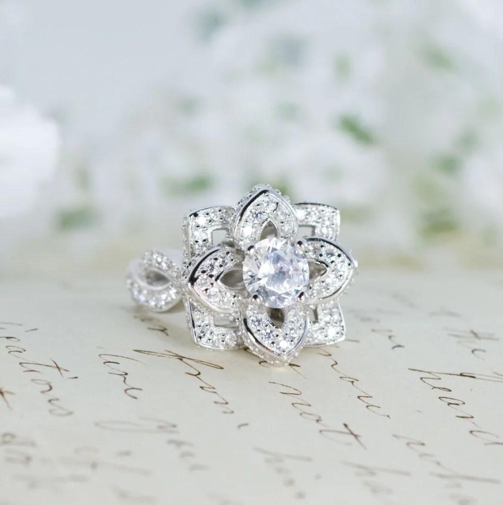 Lotus Flower Wedding Ring