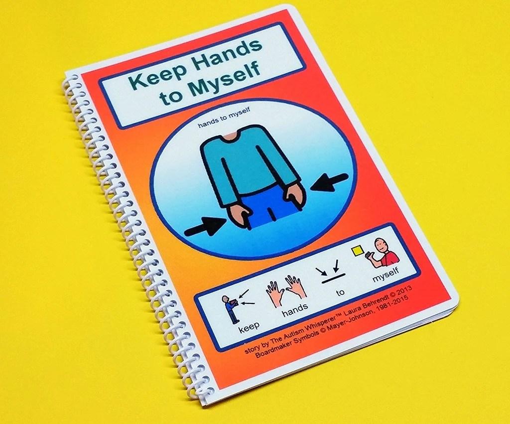 Keep Hands To Myself Autism Social Skills Story Pecs