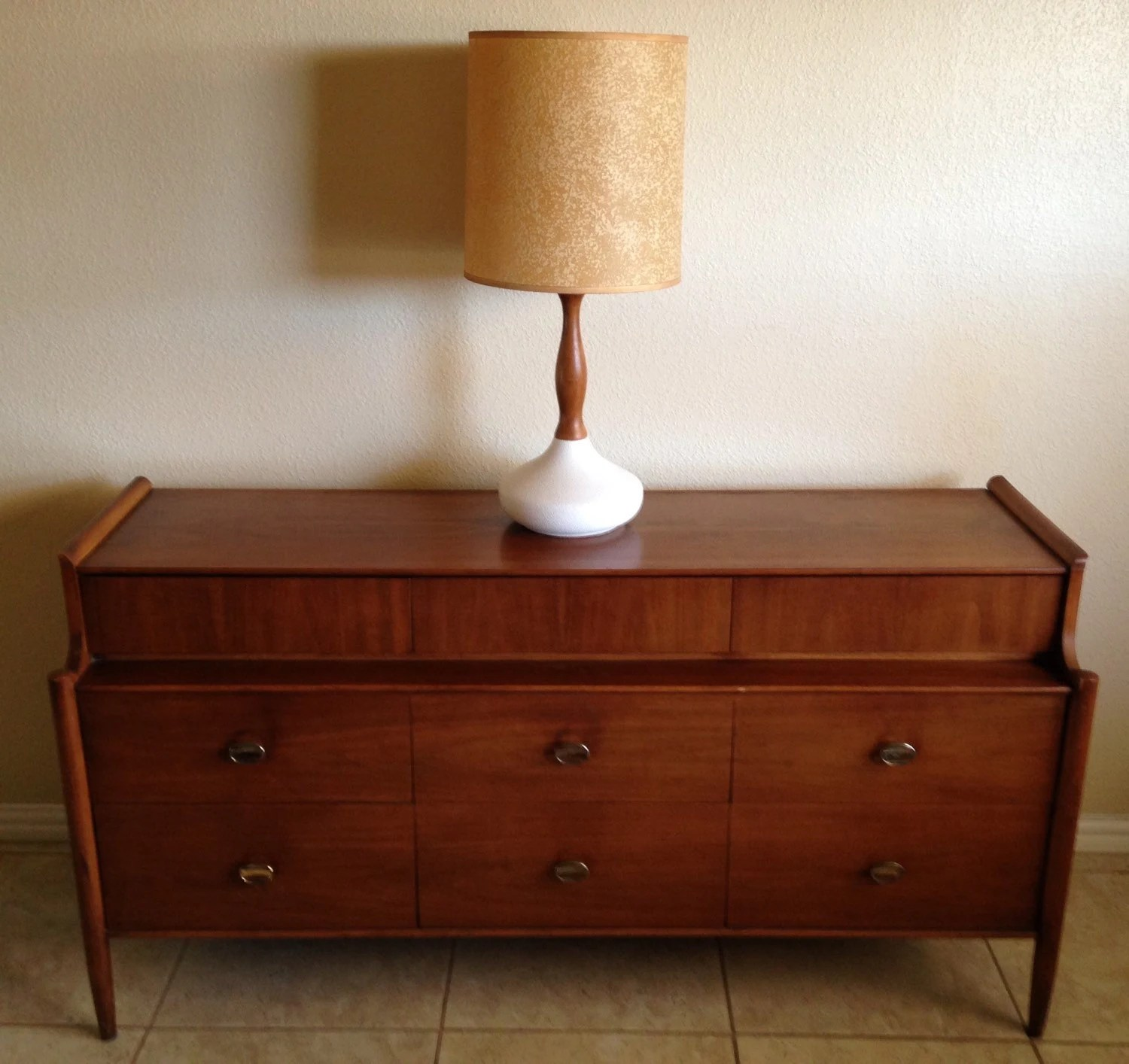 Vintage Mid Century Modern Credenza Buffet Sideboard TV Stand Duplex . Full resolution  portrait, nominally Width 1500 Height 1414 pixels, portrait with #3E1809.