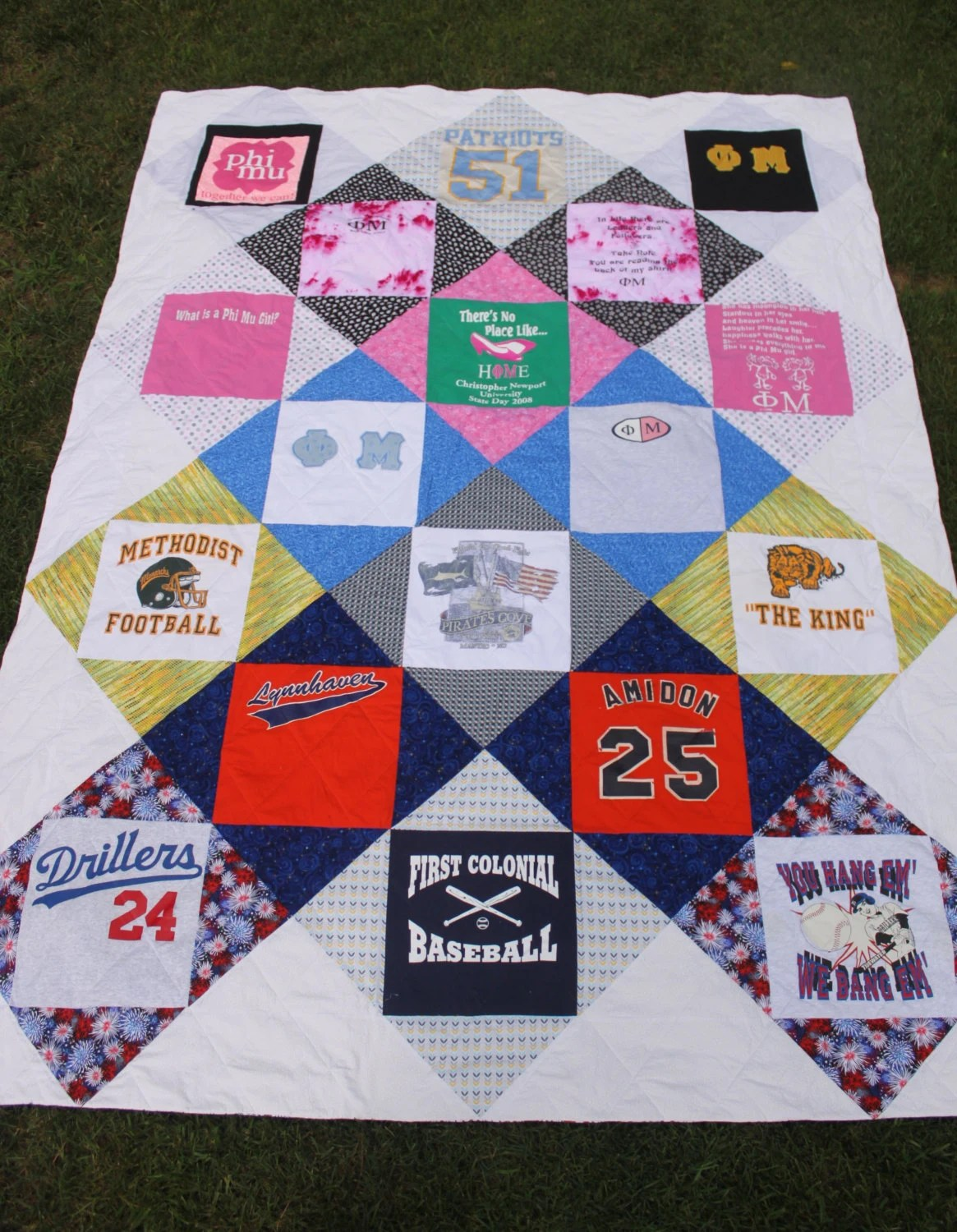 T Shirt Quilt Pattern Queen