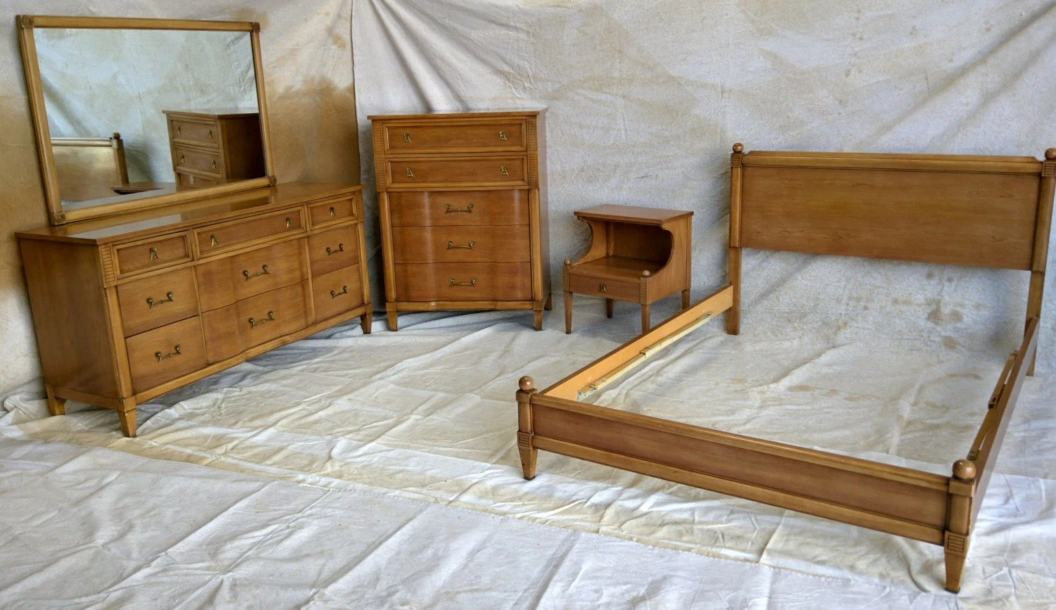beautiful mid century modern kent coffey full size bedroom set haute