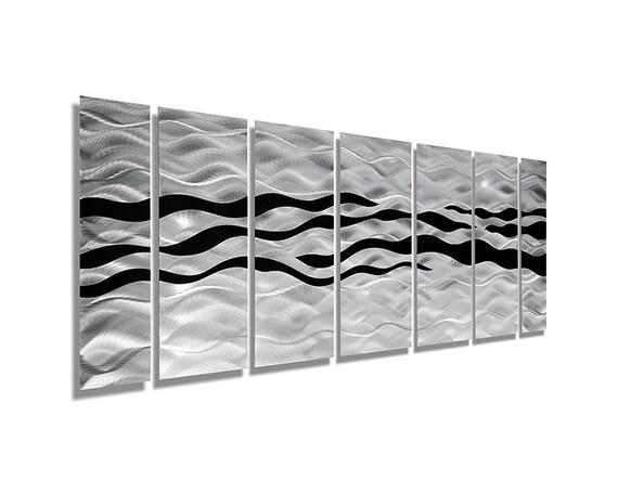 Silver & Black Abstract Metal Wall Art By JonAllenMetalArt