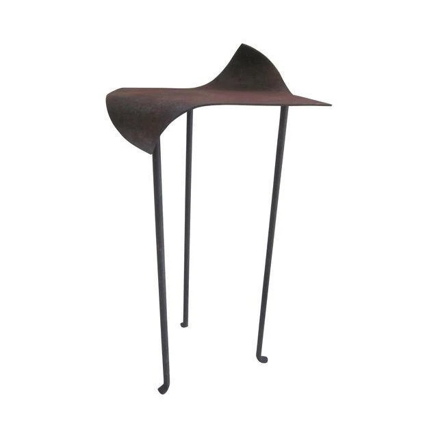 Custom modernist sculptural abstract sleek organic metal for What does mcm the designer stand for
