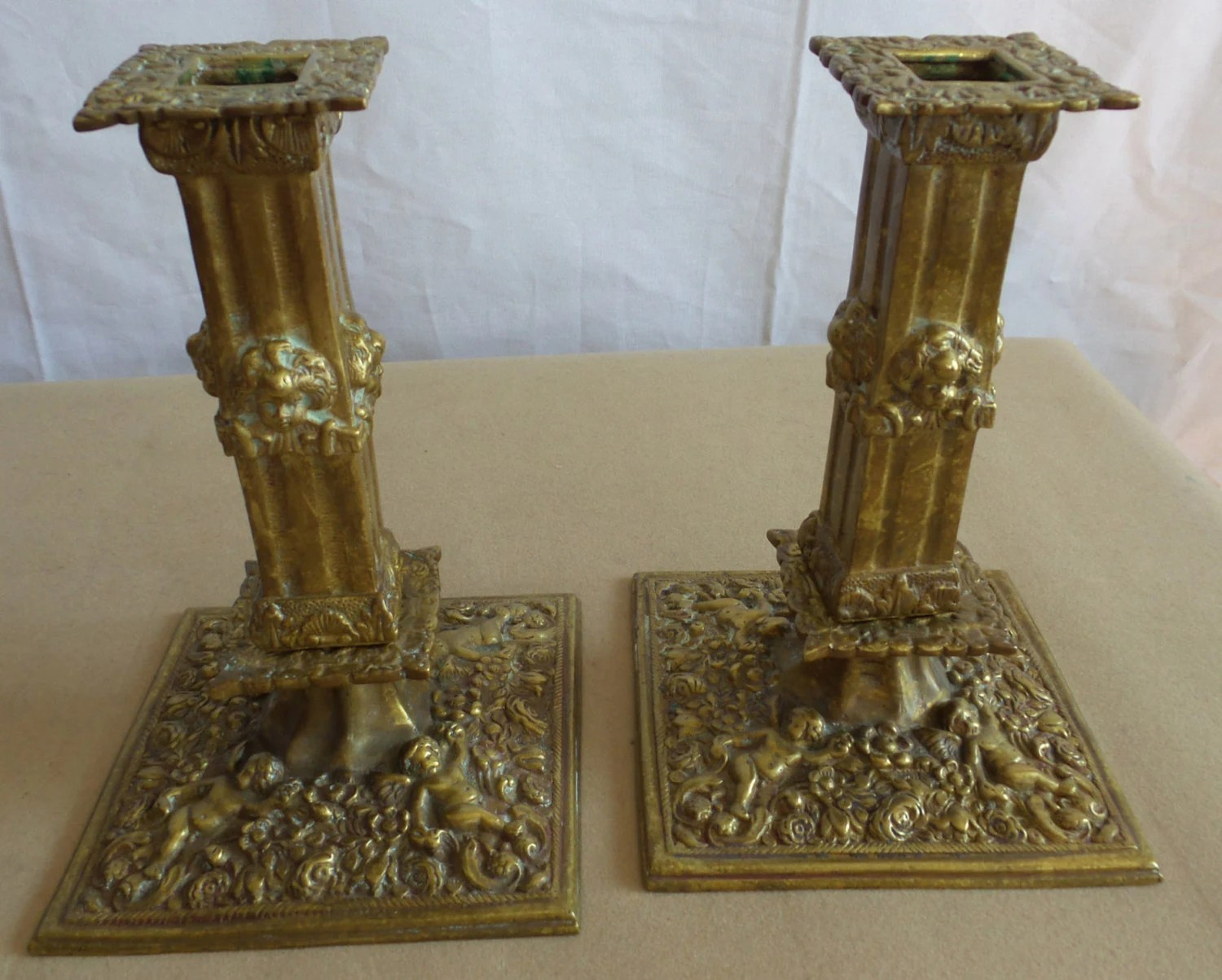 Antique Candle Holders Brass Victorian Style on Antique Style Candle Holder Sconces id=75283