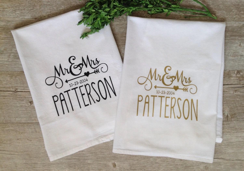 Custom Embroidered Tea Towels