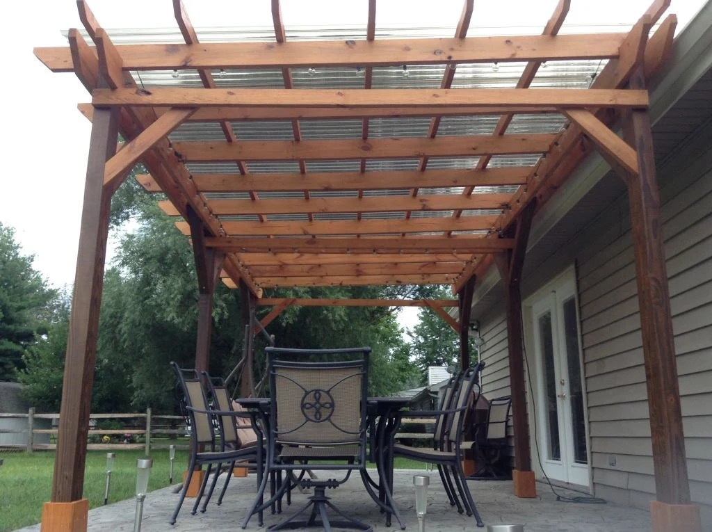 Covered Pergola Plans 12x20' Build DIY Outside Patio Wood on Covered Pergola Ideas  id=70967