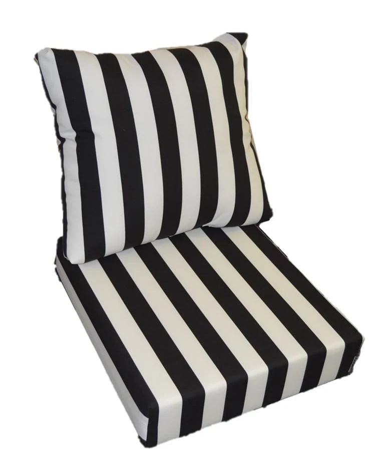 black amp white stripe cushion for outdoor seat furniture Black And White Striped Outdoor Seat Cushions id=40908