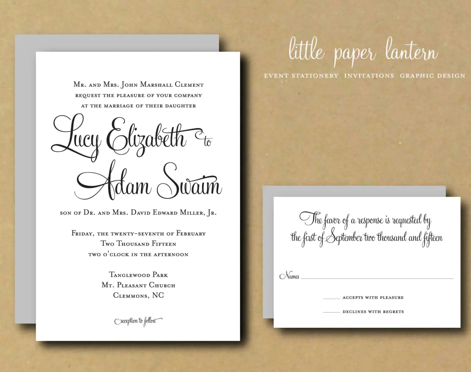 Personalised Printable Invitations