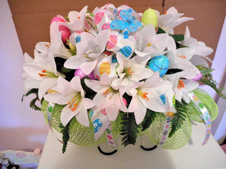Easter Flower Ideas Arrangements Cemetery