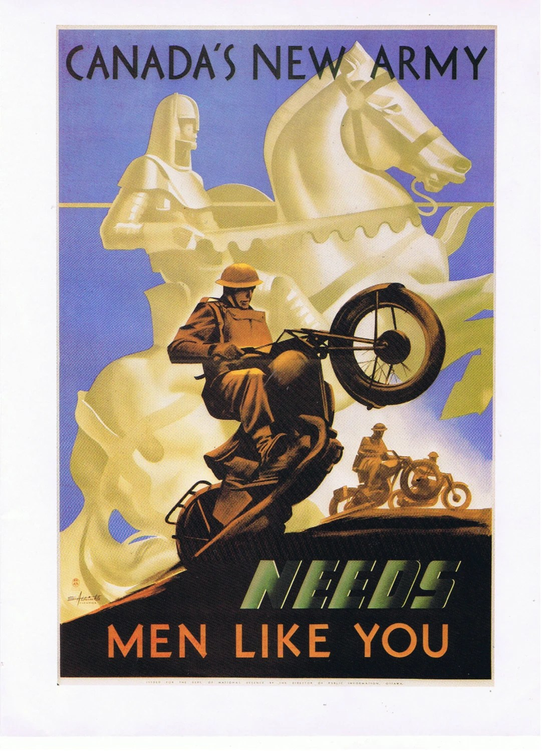 1941 Canadas New Army Needs Men Like You Military