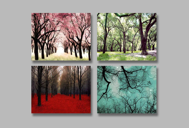 4 Seasons Wall Art 4 Photo Set Of The Four Seasons By Raceytay