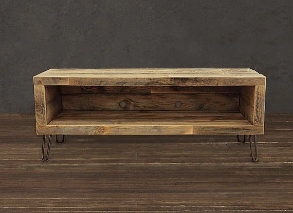 Reclaimed Wood Media Console / TV Stand 36 Long