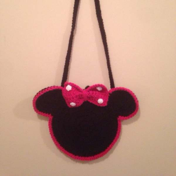 Minnie Mouse Purse Crochet Minnie Bag Red or Pink