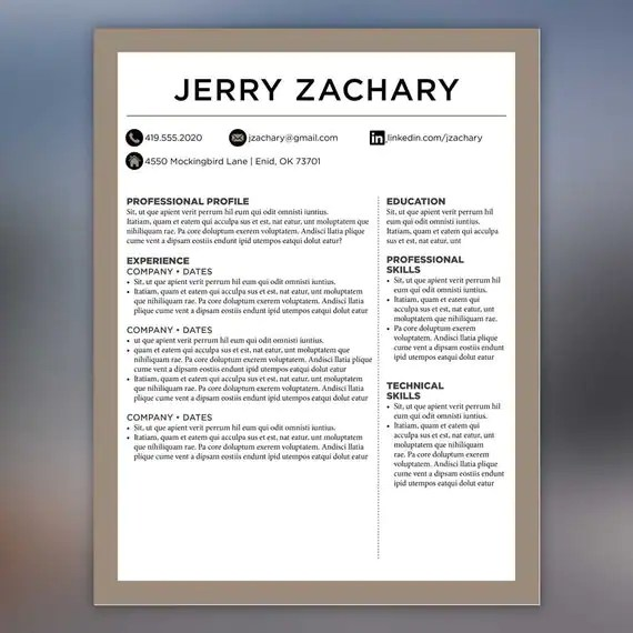 An Example Of A Good Resume ...