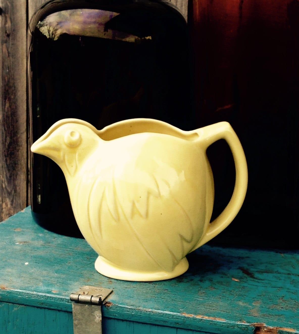Vintage McCoy Pottery Chicken Pitcher 195060s Farmhouse